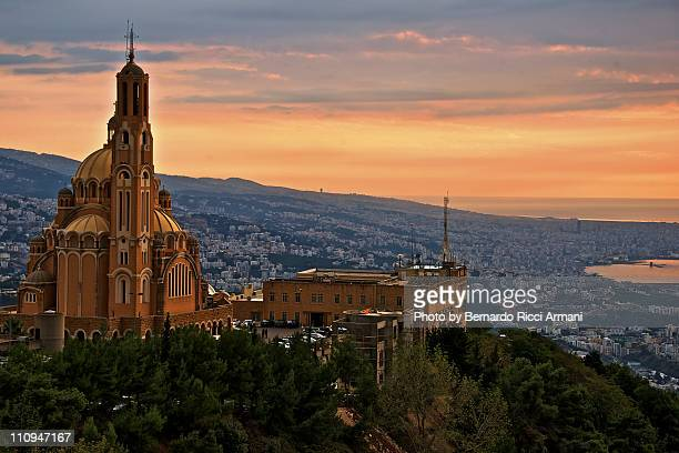 beirut from harissa - beirut stock pictures, royalty-free photos & images