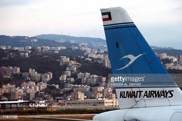 A Kuwait Airways airplane lands in Beirut's international airport 07 September 2006 just after Israel lifted its punishing eightweek air blockade...