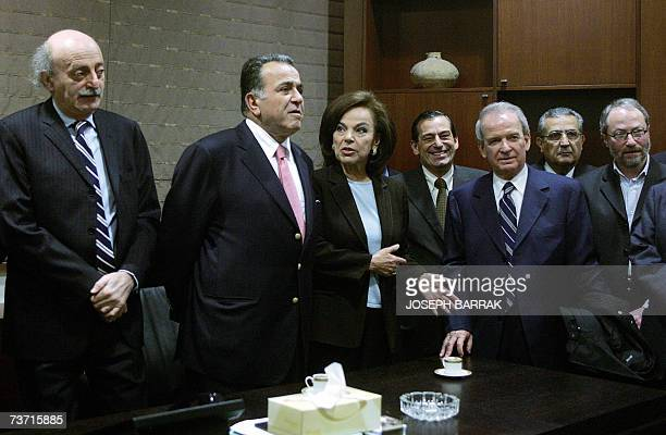 AntiSyrian Lebanese deputies gather at the parliament building in Beirut's downtown 27 March 2007 for the second time within a week and on the eve of...