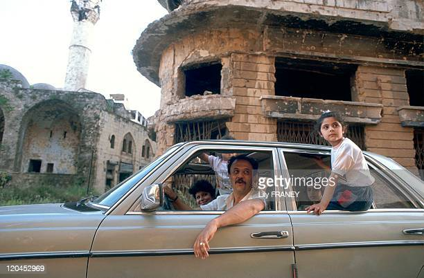 Beirut Lebanon in May 1991 Sightseeing on a Sunday in the place des Martyrs