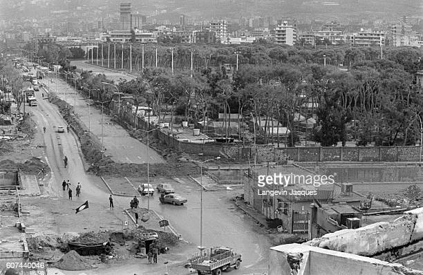 Beirut Lebanon shows the ravages of war as peace negotiations take place at the 1984 National Reconciliation Conference in Switzerland In 1975...