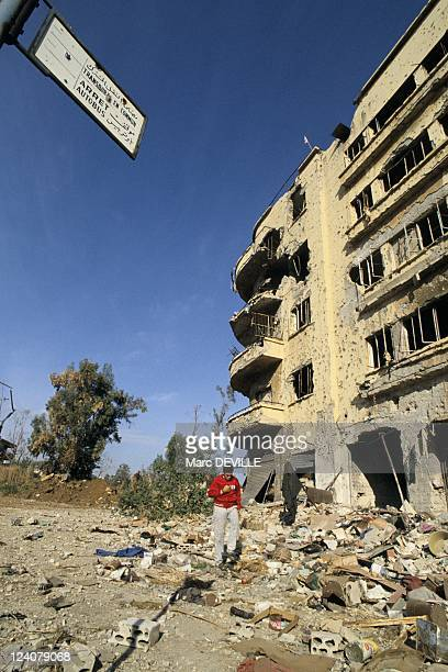 Beirut rebuilding in Beirut Lebanon on December 23 1990 The 'Passage du Musee'