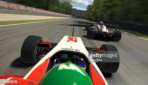 Beitske Visser of Netherlands in action during the W Series Esport League Round 1 at Autodromo di Monza on June 11, 2020 in Monza, Italy.