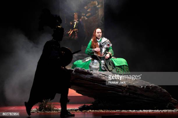 Bejun Mehta as Farnacewith artists of the company in the Royal Opera's Production Of Wolfgang Amadeus Mozart's Mitridate re di Ponto directed by...
