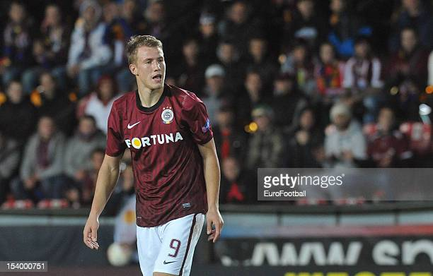 Bekim Balaj of AC Sparta Praha in action during the UEFA Europa League group stage match between AC Sparta Praha and Athletic Club held on October 4...