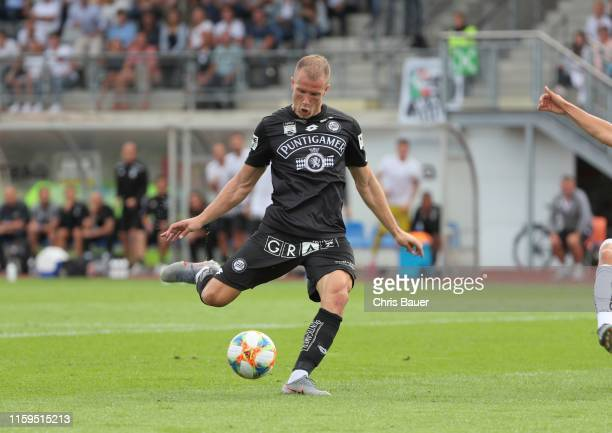 Bekim Balaj scores his first goal on his debut for Sturm Graz during the tipico Bundesliga match between RZ Pellets WAC and SK Punitgamer Sturm Graz...