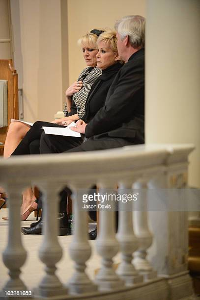 Bekka Bramlett Lorrie Morgan and Randy White attend the memorial service for Mindy McCready at Cathedral of the Incarnation on March 6 2013 in...