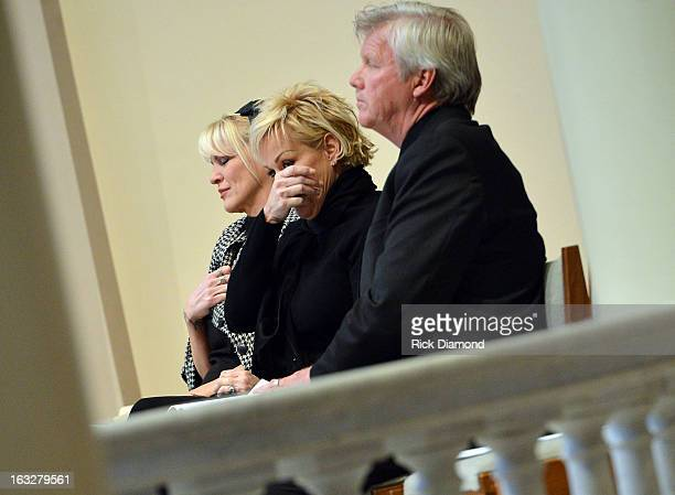 Bekka Bramlett Lorrie Morgan and Randy White attends the memorial service for Mindy McCready at Cathedral of the Incarnation on March 6 2013 in...