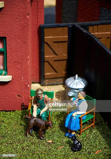 Bekonscot Model Village Elderly Couple