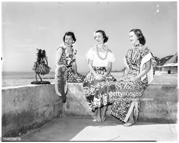 Bel Air Bay Club Hawaiian party 25 February 1952 Miss Jane ColburnMrs Robert C RivesMrs John W GainesMrs Walter Butler JuniorMrs David SimpsonMrs...