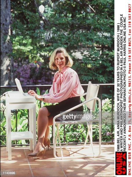 1988 Bel Air California Anna Murdoch wife of 32 years of Rupert Murdoch photograhed in a garden in Bel Air The Murdochs announced their separation...