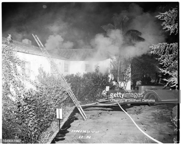 Bel Air Country Club fire 25 March 1952 Willie Leonard LL Bice JK Sutton RJ Wagner Senior Frank Winne Paul Greene Glen Ransom Joe Novak Robert Wagner...