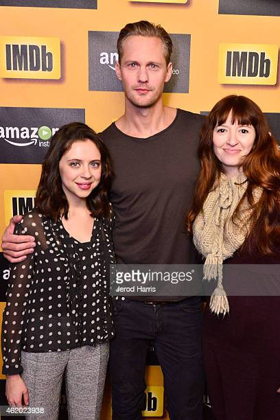 Bel Powley Alexander Skarsgard and Marielle Heller attend the IMDb Amazon Instant Video Studio at the village at the lift on January 23 2015 in Park...