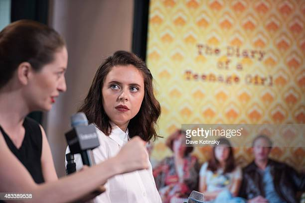 Bel Powley and Marielle Heller speak at AOL BUILD Speaker Series Presents The Diary Of A Teenage Girl at AOL Studios In New York on August 7 2015 in...