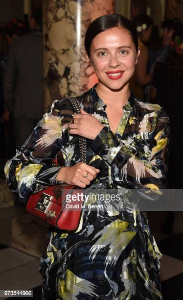Bel Powley attends a private view of 'Frida Kahlo Making Her Self Up' at The VA on June 13 2018 in London England