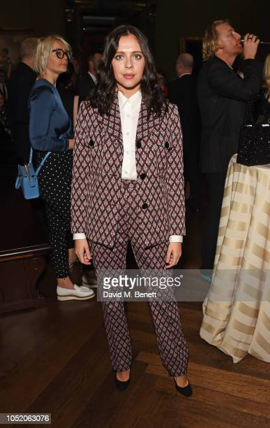 Bel Powley attends the Academy Of Motion Pictures Arts and Sciences 2018 new members party at The National Gallery on October 13 2018 in London...