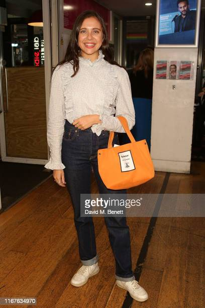 "Bel Powley attends the press night performance of ""What Girls Are Made Of"" at The Soho Theatre on September 12, 2019 in London, England."