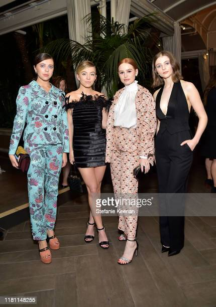 Bel Powley, Sydney Sweeney, Madelaine Petsch, and Thomasin McKenzie attend ELLE's 26th Annual Women In Hollywood Celebration Presented By Ralph...