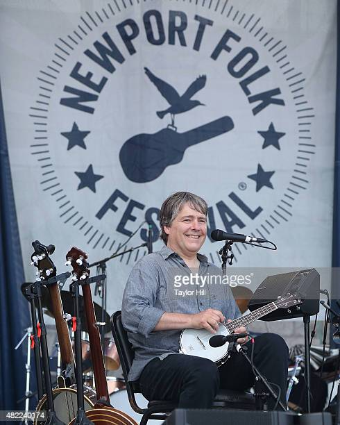 Bela Fleck and Abigail Washburn perform during the 2015 Newport Folk Festival at Fort Adams State Park on July 25 2015 in Newport Rhode Island