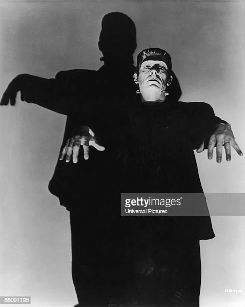 Bela Lugosi as Frankenstein's monster in a publicity still for 'Frankenstein Meets The Wolf Man' directed by Roy William Neill 1943