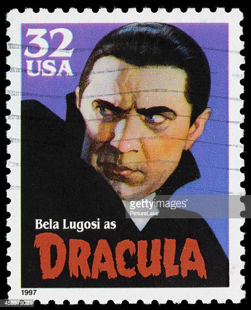 usa bela lugosi dracula postage stamp - count dracula stock photos and pictures