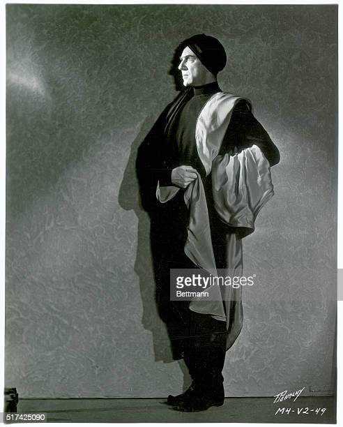 Bela Lugosi in costume for his starring role in Chandu the Magician a Fox film directed by William Cameron Menzies and Marcel Varnel