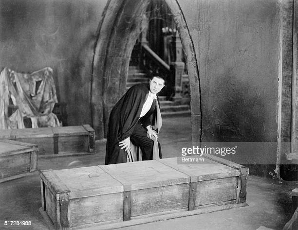 Bela Lugosi is shown in this still publicizing the 1931 Universal Studios film Dracula In the film the eerie effect of his almond shaped crystal blue...