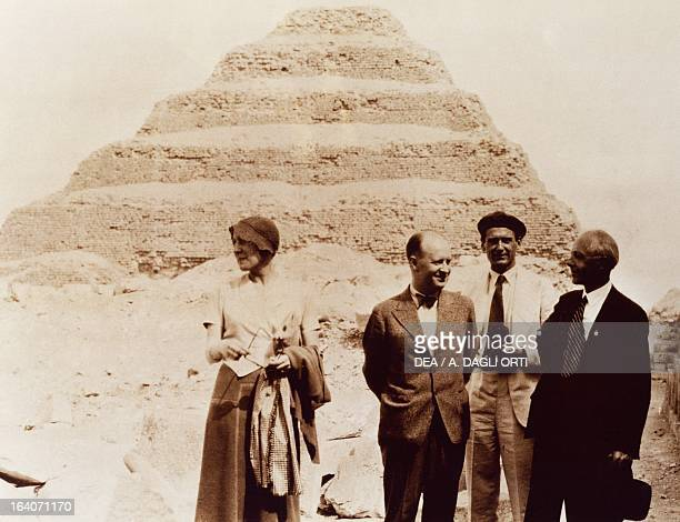 Bela Viktor Janos Bartok in front of the pyramid of Zoser during his trip to Egypt Budapest Bartok Bela Emlekhaz