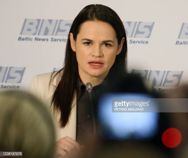 Belarus' opposition candidate Svetlana Tikhanovskaya, who has left the ex-Soviet country for neighbouring Lithuania in the aftermath of the...