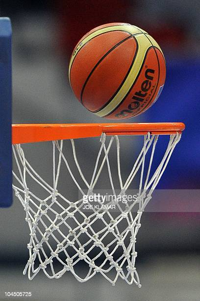 Belarus scores during the match between Australia and Belarus during the Women's FIBA World Championship 2010 in Ostrava on 24 September 2010AFP...