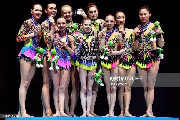 Belarus team Julia Ivonchyk Veranika Nabokina and Karina Sandovich Russia team Daria Chebulanka Polina Plastinina and Kseniia Zagoskina and China...