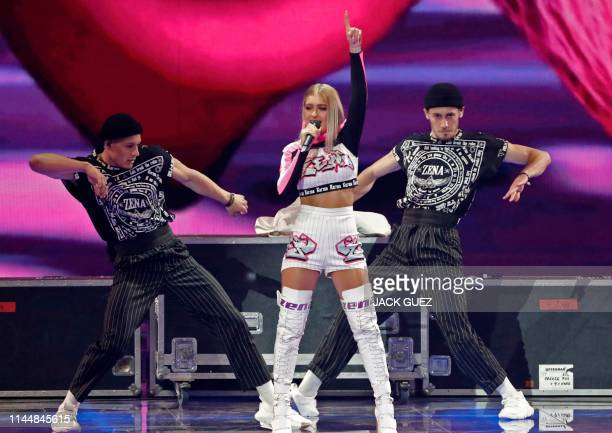Belarus' ZENA performs the song Like It during the Grand Final of the 64th edition of the Eurovision Song Contest 2019 at Expo Tel Aviv on May 18 in...