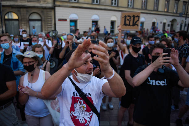 POL: Protests In Poland After Elections In Belarus