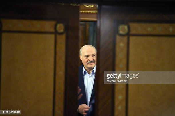Belarussian President Alexander Lukashenko attends Russian-Belarussian talks in Sochi, Russia, February 7, 2020. Lukashenko and Putin is having a day...