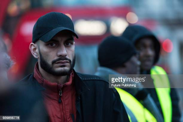 BeLeave whistleblower Shahmir Sanni attends an emergency demonstration in Parliament Square on the anniversary of triggering Article 50. The rally,...