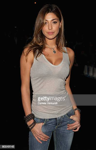 Belem Rodriguez attends the DSQUARED2 show as part of Milan Fashion Week Autumn/Winter 2008/09 on February 21 2008 in Milan Italy