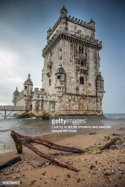 lisbon, portugal - belem tower, 1515-1521, extremadura, lisbon. portugal - alfama stock photos and pictures
