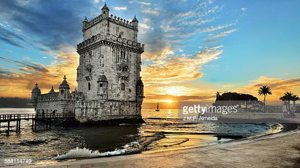 Belem Tower at sunset