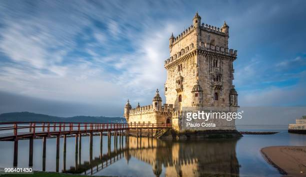 belem tower - chateau stock pictures, royalty-free photos & images