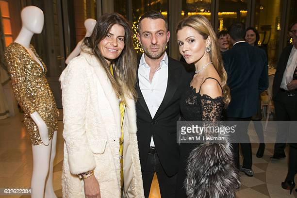 Belen Antolin Alexandre Vauthier and Elizabeth Sulcer attend the Swarovski Celebrates 10 Seasons X Alexandre Vauthier cocktail and dinner at Hotel...