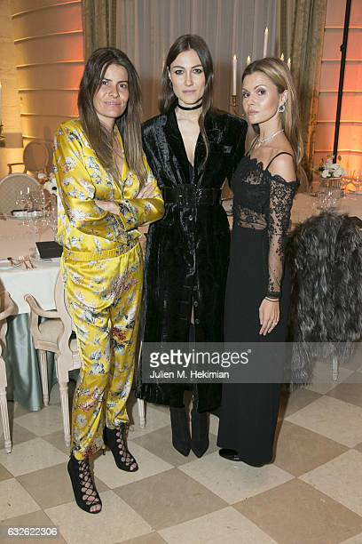 Belen Antolin Giorgia Tordini and Elizabeth Sulcer attend the Swarovski Celebrates 10 Seasons X Alexandre Vauthier cocktail and dinner at Hotel Ritz...