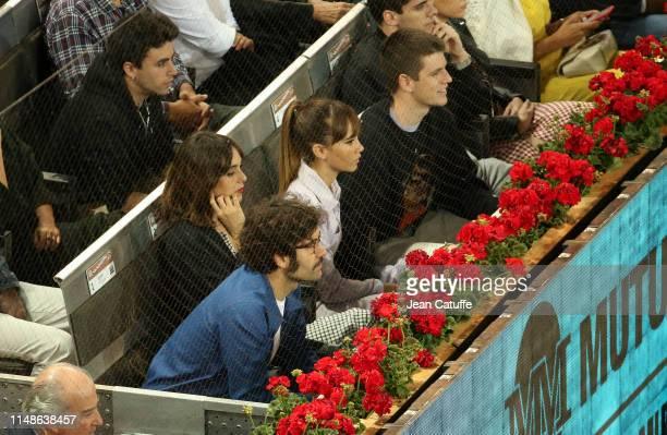 Belen Cuesta and Tamar Novas, Aitana Ocana and Miguel Bernardeau attend the defeat of Rafael Nadal of Spain against Stefanos Tsitsipas of Greece...