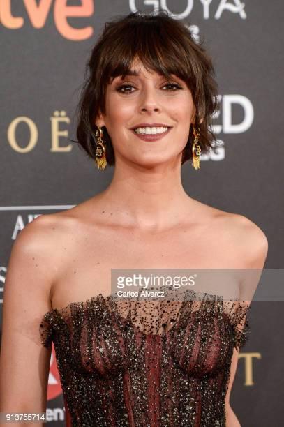 Belen Cuesta attends Goya Cinema Awards 2018 at Madrid Marriott Auditorium on February 3 2018 in Madrid Spain