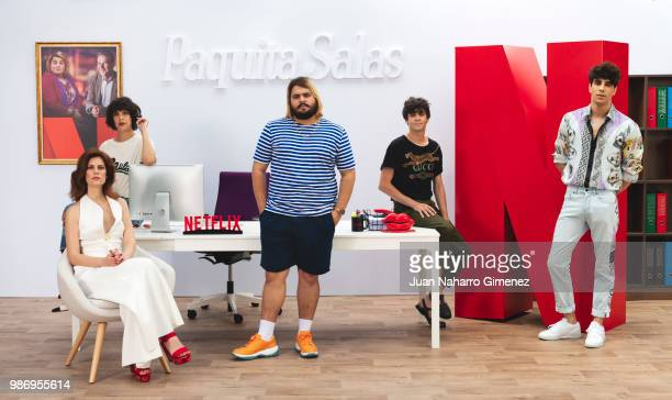 Belen Cuesta Lidia San Jose Brays Efe Javier Ambrossi and Javier Calvo attend World Premiere of Netflix's Paquita Salas Season 2 on June 28 2018 in...