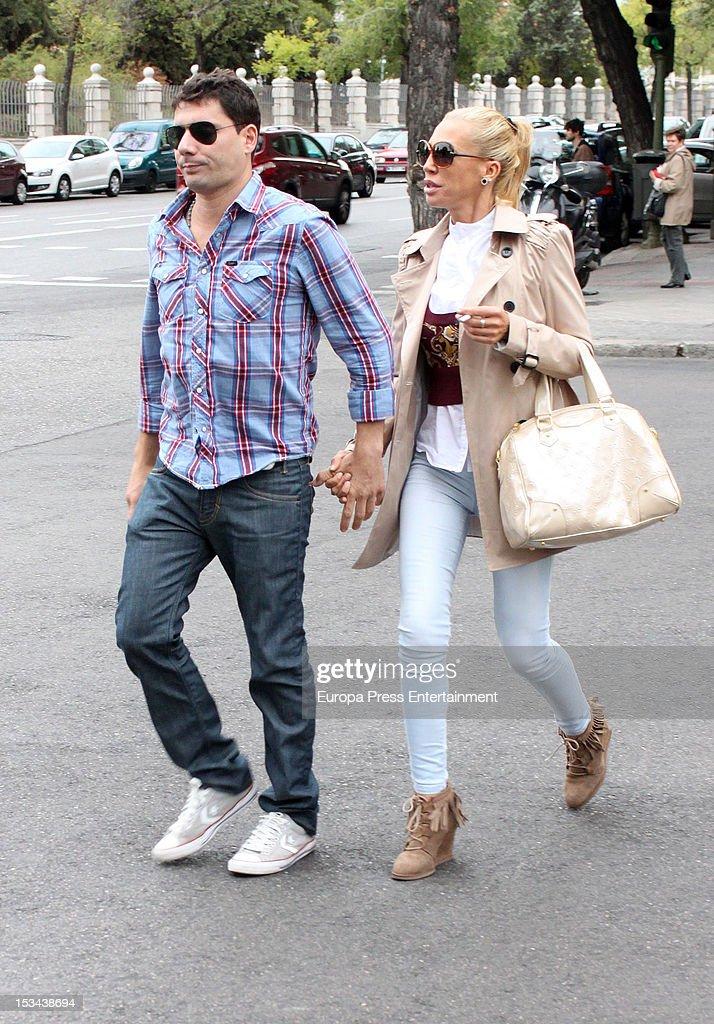 Belen Esteban and Fran Alvarez Sighting In Madrid - September 27, 2012