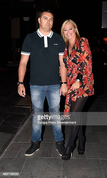 Belen Esteban and Miguel Marcos attend Terelu's 50th birthday party on September 23 2015 in Madrid Spain