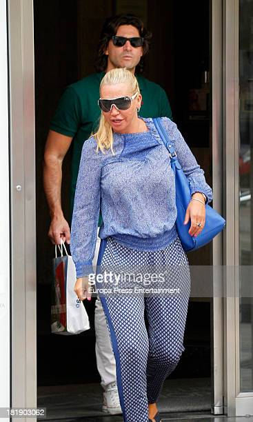 Belen Esteban and Tono Sanchis are seen on September 25 2013 in Madrid Spain