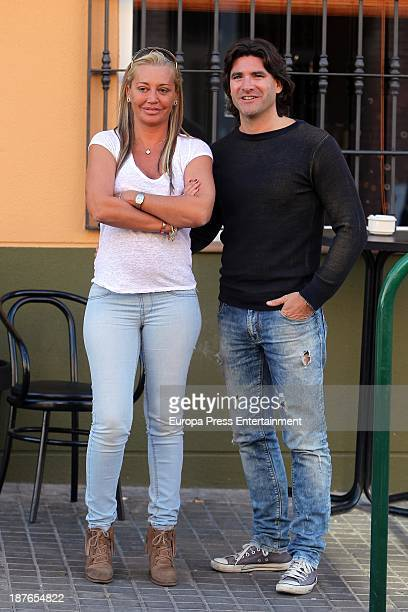 Belen Esteban and Tono Sanchis attend Belen Esteban's 40'th birthday party on November 9 2013 in Madrid Spain