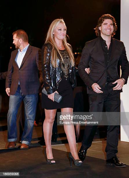 Belen Esteban and Tono Sanchis attend XV anniversary of 'La Razon' newspaper on November 4 2013 in Madrid Spain