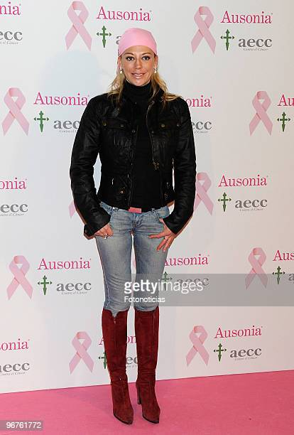 Belen Esteban attends 'Ausonia Against Breast Cancer' event at Moma on February 16 2010 in Madrid Spain